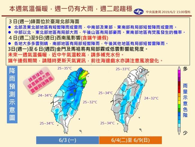 端午連假天氣如何? 氣象局一張圖看懂 | 華視新聞