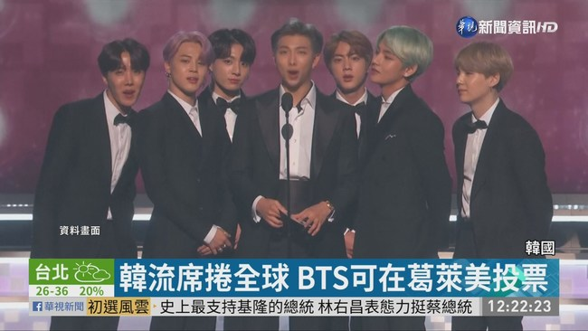 韓流席捲全球 BTS擁葛萊美投票權 | 華視新聞