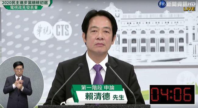【初選政見發表會】第一階段申論 賴清德:參選是為了台灣的未來 | 華視新聞