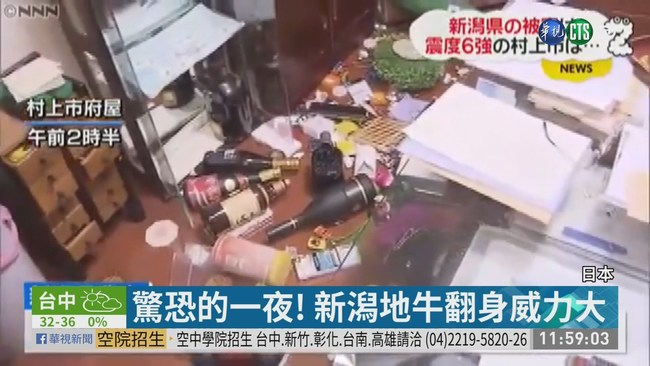 日本新潟強震21傷 解除海嘯警報 | 華視新聞