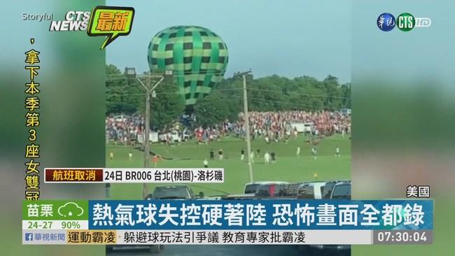 熱氣球失控硬著陸 撞人群至少2人傷 | 華視新聞