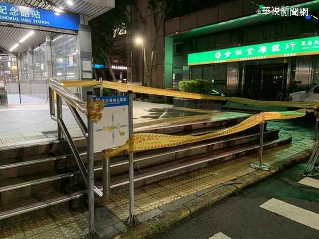 小貨車撞上捷運站出口樓梯 路過夫妻1命危   華視新聞