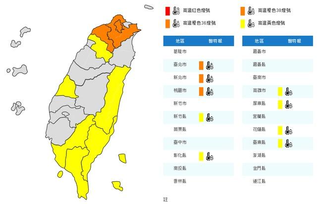 熱爆!9縣市高溫警示 桃園蘆竹飆38.4度 | 華視新聞