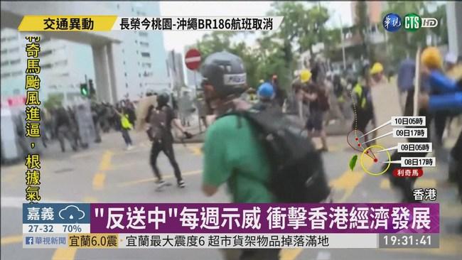 每週末都有示威抗議 衝擊香港經濟 | 華視新聞
