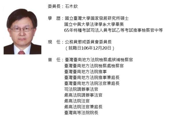 公懲會委員長石木欽涉不當往來請辭 司法院追究責任 | 華視新聞