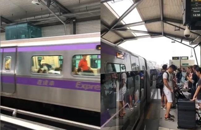 【影】桃捷列車電力跳脫 乘客遭趕下車、直達車停駛 | 華視新聞