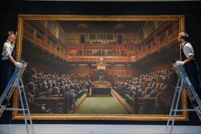 「猩猩主宰國會」 班克西畫作以3.7億售出 | 華視新聞