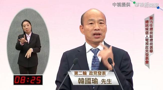 韓國瑜喊「貪汙吃豬膽」 陳其邁:政見會應講政見 | 華視新聞