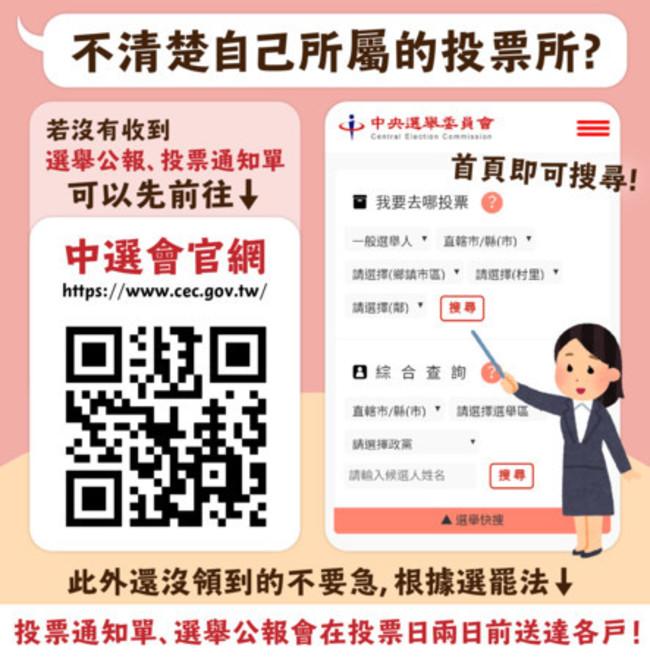 沒收到投票通知單? 中選會網站可秒查投票所 | 華視新聞