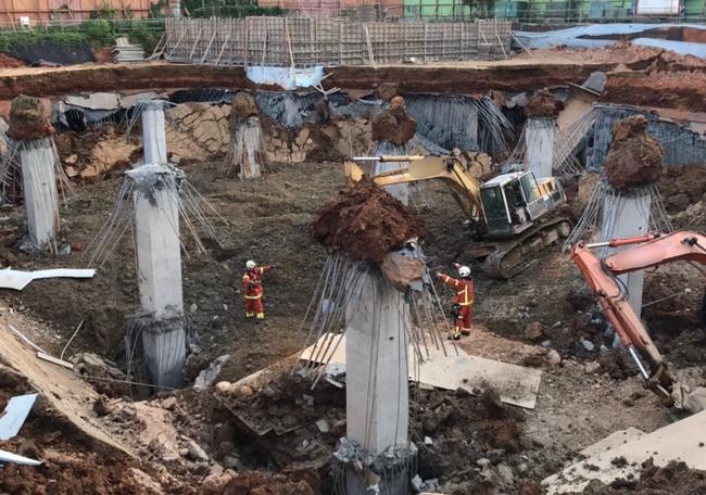 平鎮停車場工程坍塌1死2傷 市府下令停工調查 | 華視新聞