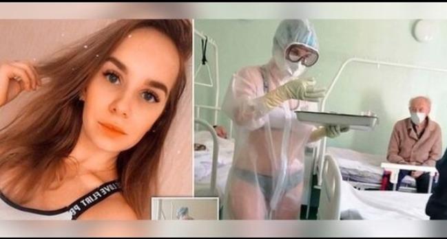 防護衣下脫到剩內衣褲...俄國女護士:太熱了   華視新聞