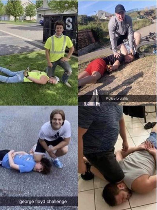 社群平台出現「佛洛伊德挑戰」 模仿警壓頸姿勢挨轟 | 華視新聞