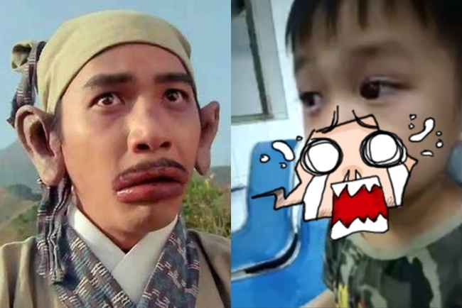 男童吃自家種葡萄「腫成香腸嘴」 網憋笑:歐陽鋒?   華視新聞