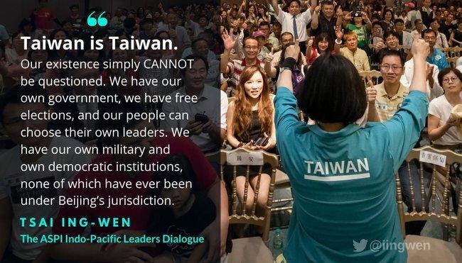 霸氣喊話!蔡英文推特連發4圖嗆:台灣就是台灣 | 華視新聞