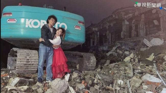 抗議拆市場 女議員翻牆拍婚紗惹議 | 華視新聞