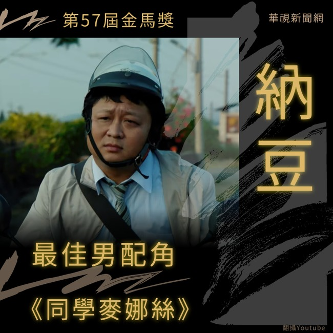 【金馬57】納豆勇奪最佳男配角! | 華視新聞