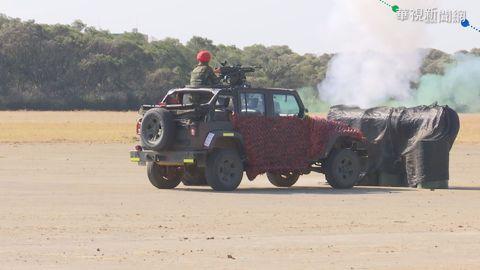 模擬桃機遇襲 陸軍偵蒐無人機首亮相