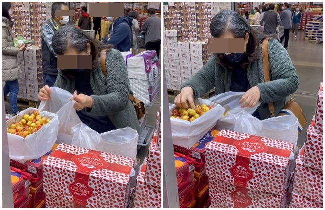 婦賣場拆3盒櫻桃隔袋翻攪還用手摸! 他批:防疫期間瞎摸...   華視新聞