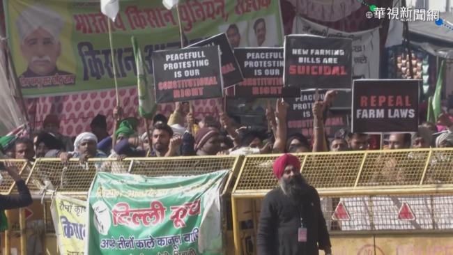 印度農民抗議新法 警民對峙氣氛緊張 | 華視新聞