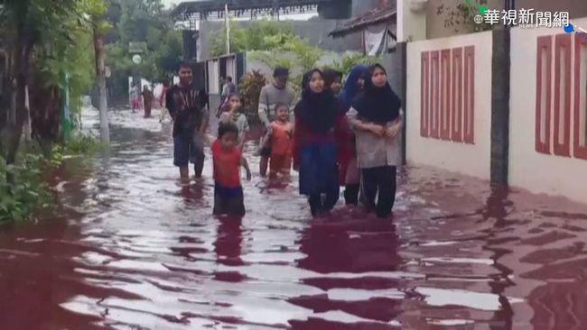 印尼染整廠偷排廢水 雨後「紅」水成災   華視新聞