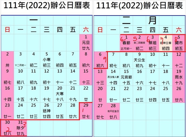 春節連假即將結束 他翻行事曆超嗨:明年上看9天   華視新聞