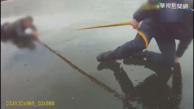 民眾掉進結冰河 烏克蘭警英勇救4人   華視新聞