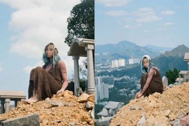 女模特為拍照踐踏墓地 眾怒:不尊重往生者 | 華視新聞