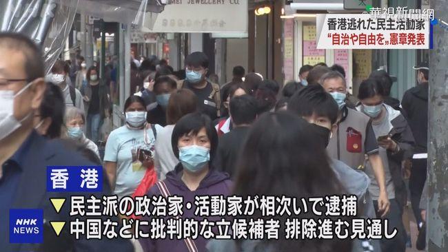 抵抗強權! 港流亡者簽「2021香港約章」 | 華視新聞