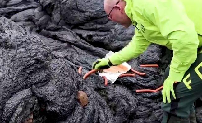 冰島火山噴發釀奇景 民眾圍觀外加「烤香腸」 | 華視新聞