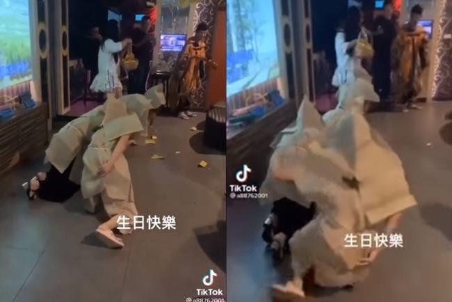 灑冥紙慶生、披麻戴孝喊「過橋」...影片曝光全場傻眼   華視新聞