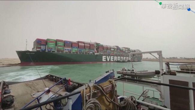 長榮貨輪卡蘇伊士運河 國際油價大漲 | 華視新聞