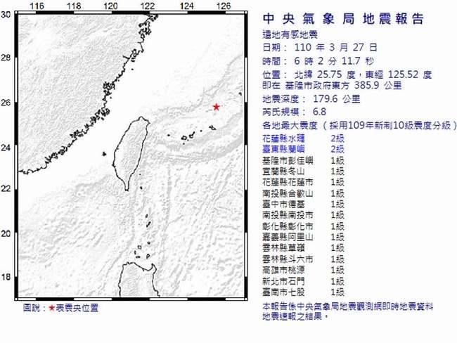 基隆外海今晨6.8地震 鄭明典:還好距離很遠 | 華視新聞