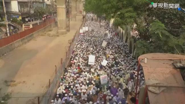 印度總理訪孟加拉 上千民眾火爆抗議   華視新聞