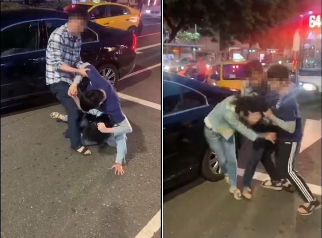 「給我道歉!」車禍擦撞男失控 婦遭揮拳.扯髮.撞車門 | 華視新聞