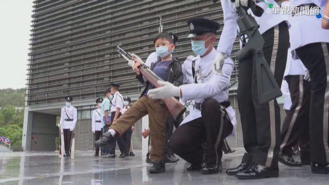 港國安教育日 小朋友玩水槍仿警鎮壓   華視新聞