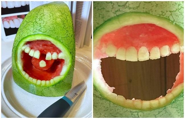 護理師雕刻「西瓜血盆大口植牙照」 3萬人朝聖 | 華視新聞