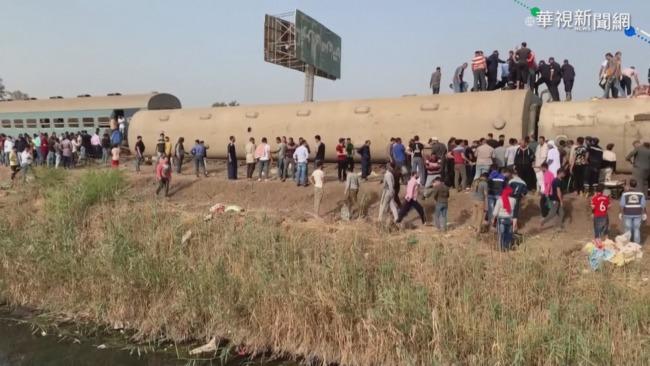 埃及驚爆火車出軌 至少11死98傷 | 華視新聞