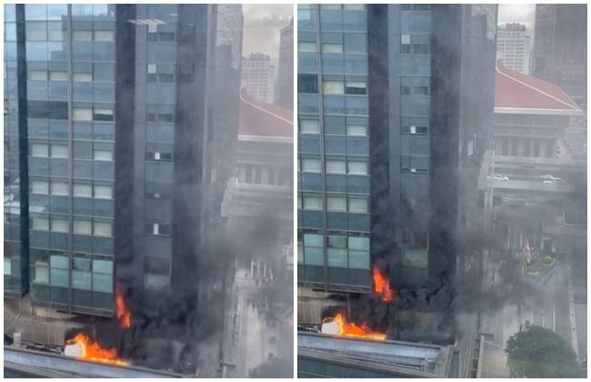 京站君品酒店火警 火勢猛烈警消救援   華視新聞