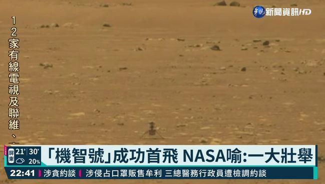NASA火星直升機 「機智號」成功首飛!   華視新聞