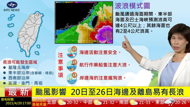 舒力基21-23日最近台 中南部山區午後短暫雷雨 | 華視新聞