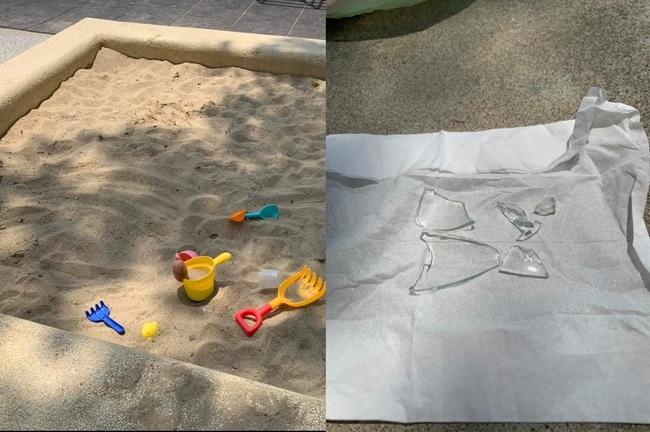 孩子玩沙突拿「透明物」!媽檢查沙堆竟挖出6塊碎玻璃 | 華視新聞