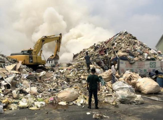 台南資源回收場有前科又火災 遭罰212萬恐廢證 | 華視新聞