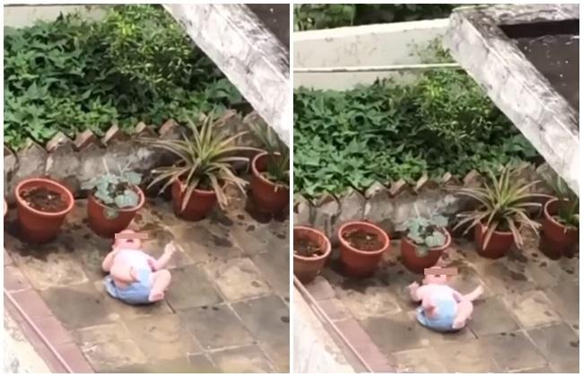 嬰兒被放陽台地上哭鬧無防護 警:爺澆花粗心順手放地板 | 華視新聞