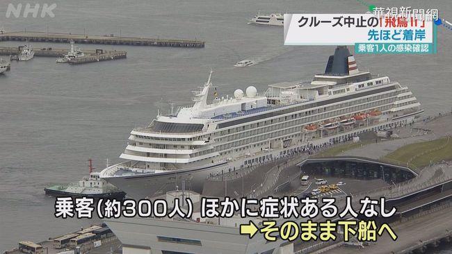 日郵輪1乘客染疫 近300人急返橫濱   華視新聞