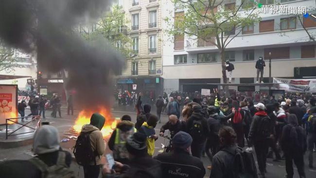 歐民眾勞動節示威爭權益 釀警民衝突! | 華視新聞