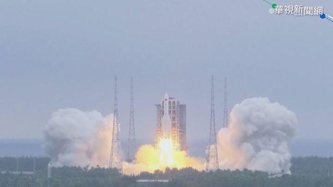 中國火箭發射後失控打轉 恐將墜毀!   華視新聞