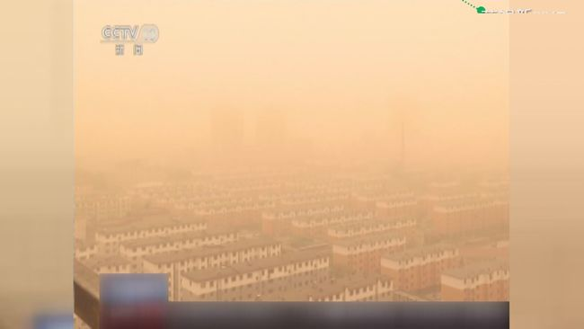 天空一片黃! 沙塵暴侵襲中國急發預警 | 華視新聞