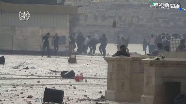 以巴警民衝突 耶路撒冷清真寺近300傷 | 華視新聞