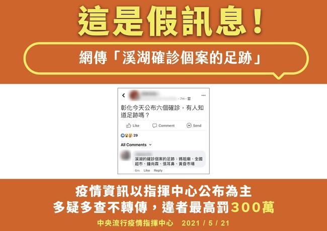 溪湖確診足跡曾至媽祖廟、超市?指揮中心駁:假訊息 | 華視新聞