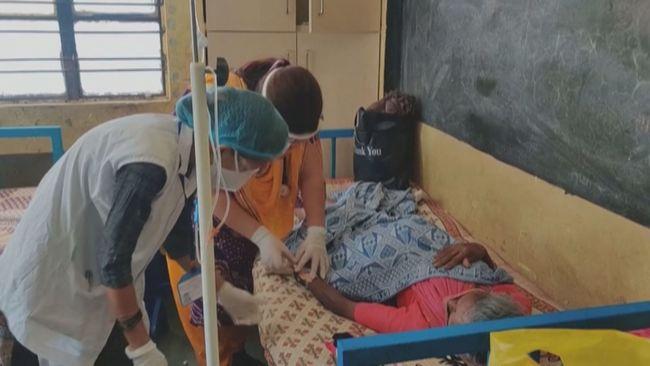 印醫療資源瀕臨崩潰 教室改醫院使用   華視新聞